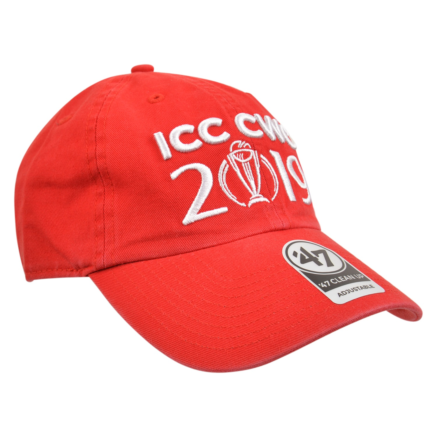 cwc19 logo 47 clean up red white cap