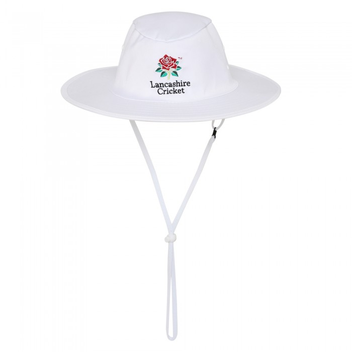 Red Rose Cricket Sun Hat White
