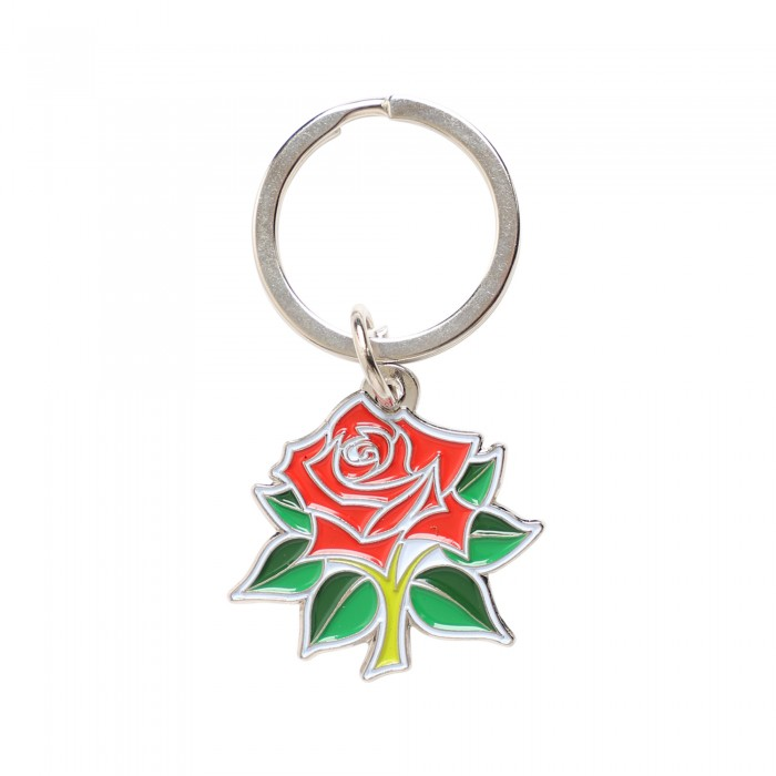 Key Ring Red Rose Crest