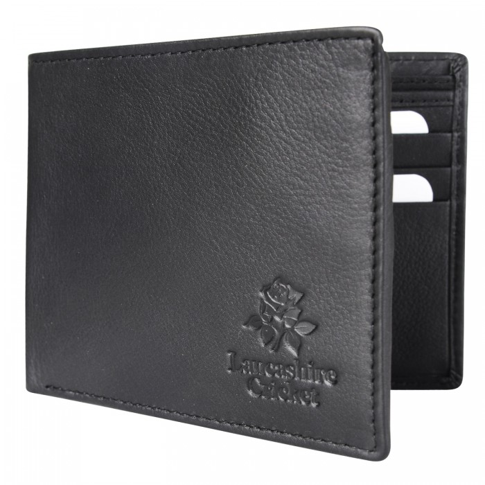 Lancashire Cricket Leather Wallet