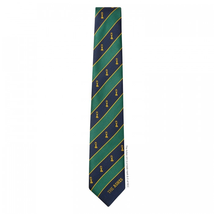Ashes Polyester Tie Green/Yellow