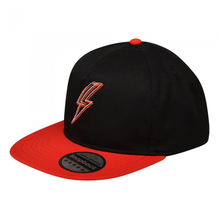 Youth Lightning Snapback Black/Red Cap