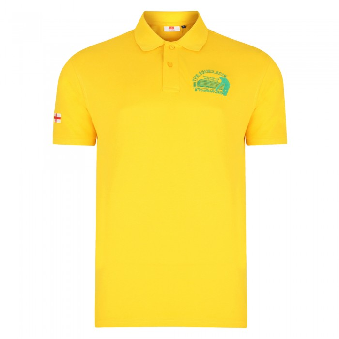 Old Trafford Ashes Polo Yellow