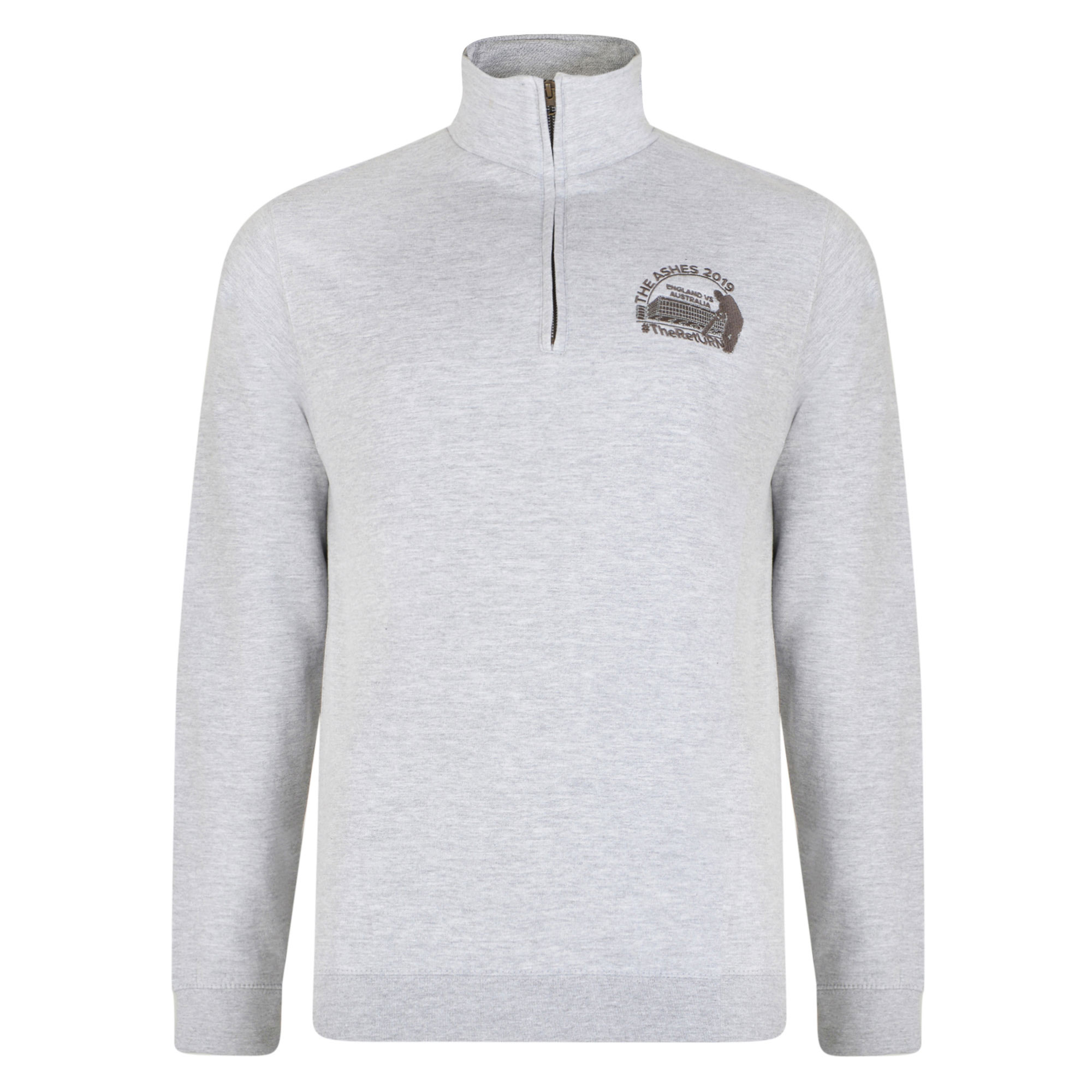 Old Trafford Ashes 1/4 zip Jumper Grey