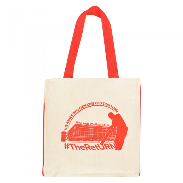 Old Trafford Ashes Cotton Shopper Bag Red