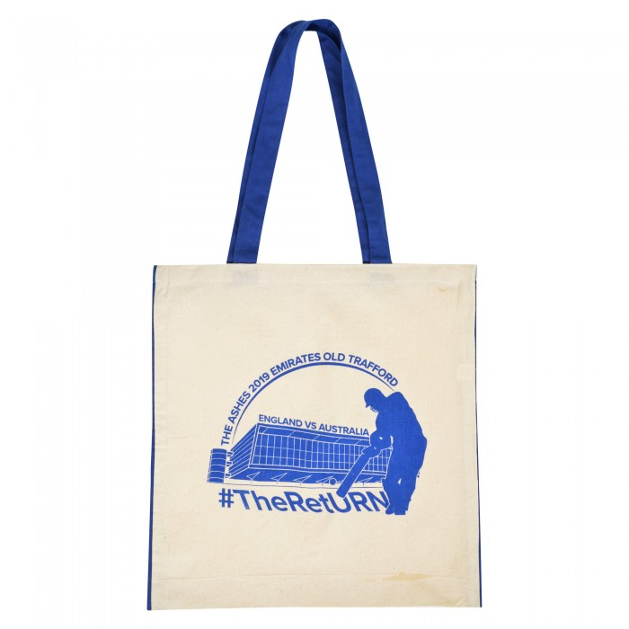 Old Trafford Ashes Cotton Shopper Bag Blue