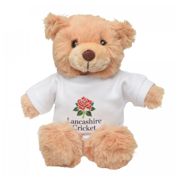 Red Rose Teddy Bear Light Brown